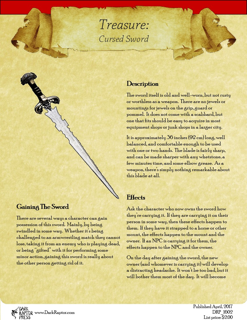 Treasure - Cursed Sword Image